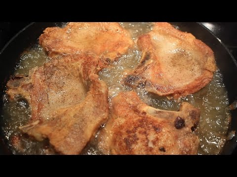 Fried pork chops bone in delicious youtube fried pork chops bone in delicious ccuart Image collections