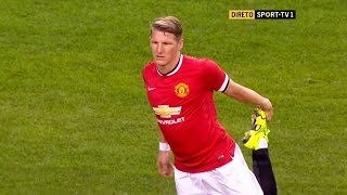 Bastian Schweinsteiger debut for Manchester United - MU vs Club America (18/7/2015)