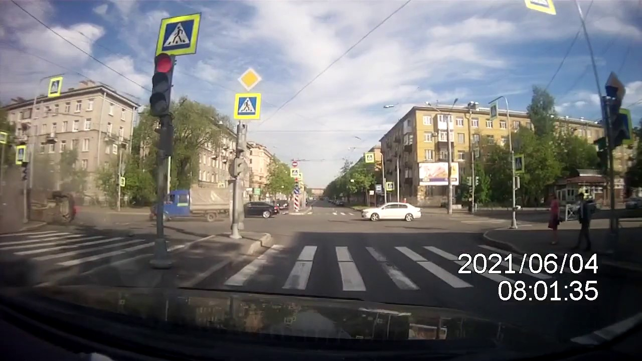 Авария Краснопутиловская/Автовская