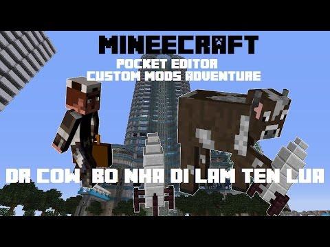Minecraft PE 0.14.0 Custom Mods Adventure: Dr Cow bỏ nhà đi...làm tên lửa ????