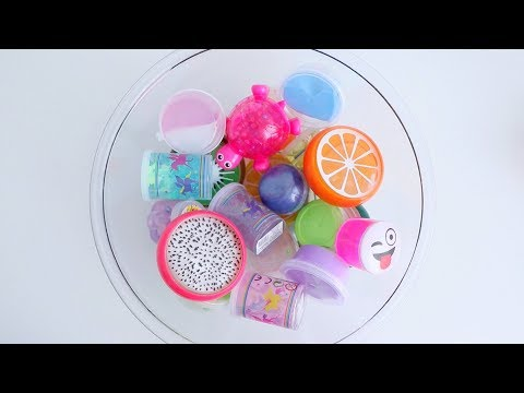 EXTREME MIXING ALL MY STORE BOUGHT SLIMES *satisfying slime ASMR sounds