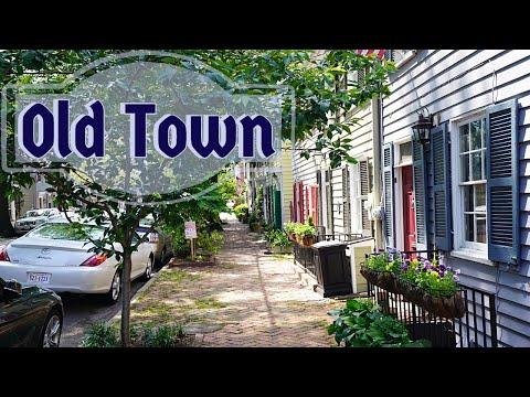 Old Town, Alexandria, Virginia - 4K