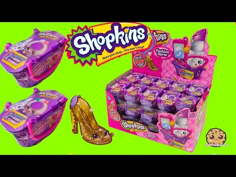 Shopkins FASHION SPREE Blind Bag Box Unboxing Season 1 , 2 , 3 Exclusive Colors - Cookieswirlc Video