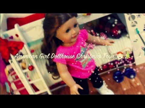 american girl doll house christmas tour youtube