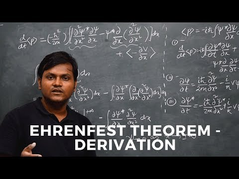 Ehrenfest Theorem | Derivation using Schrodinger's Picture | Time derivative of avg Momentum
