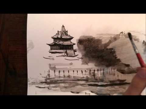 Chinese Landscape Study #1 – Ink painting