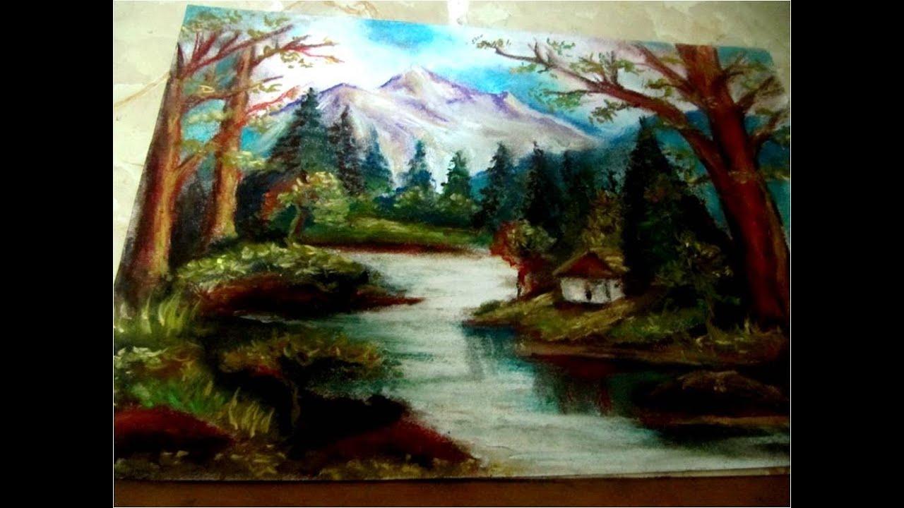 Clases de Dibujo y pintura paisaje con tiza pastel  YouTube