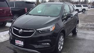 2018 Buick Encore AWD Premium Lane Keep Sunroof Heated Steering Black Oshawa ON Stock #180981