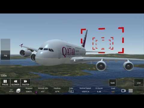 Infinite flight AIRBUS 320-800 lending