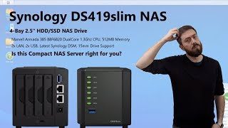 Synology Slim DiskStation NAS DS419slim 4-Bay, for 2 5