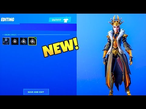 All New Fortnite Styles New Ice Queen Selectable Styles Fortnite Battle Royale Youtube