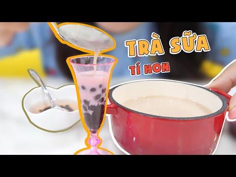 Làm Ly Trà Sữa Trân Châu Tí Hon Ngon Ngon