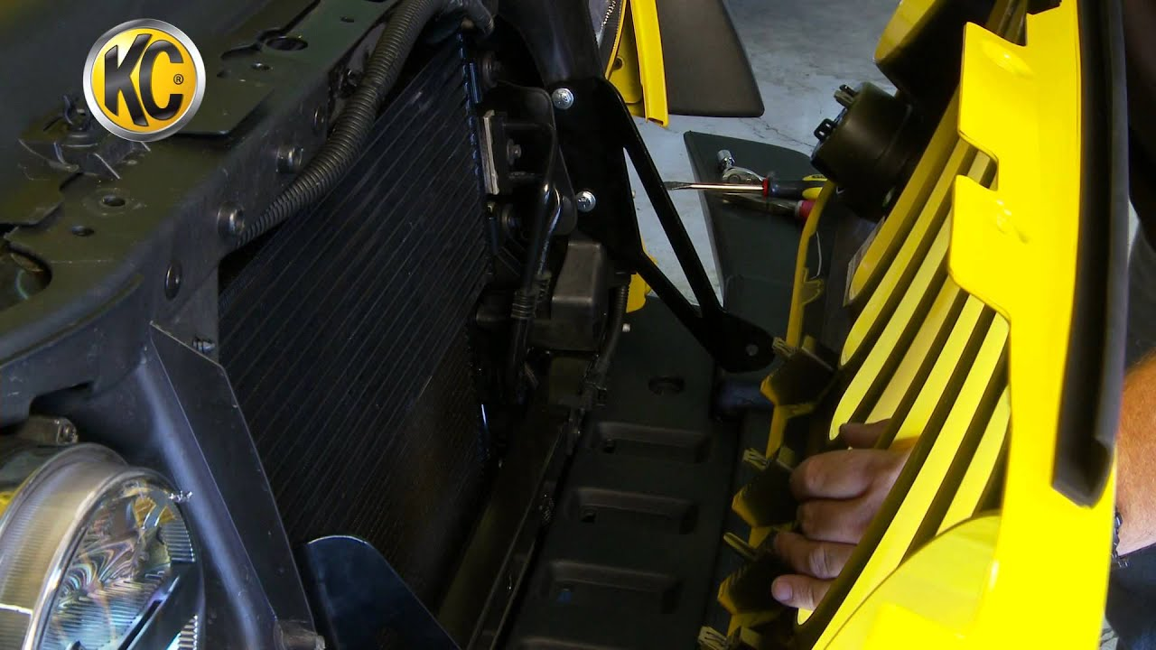 Kc Hilites Install Jeep Jk Grill Mount With 20 C Series Led Bar Wiring Lights