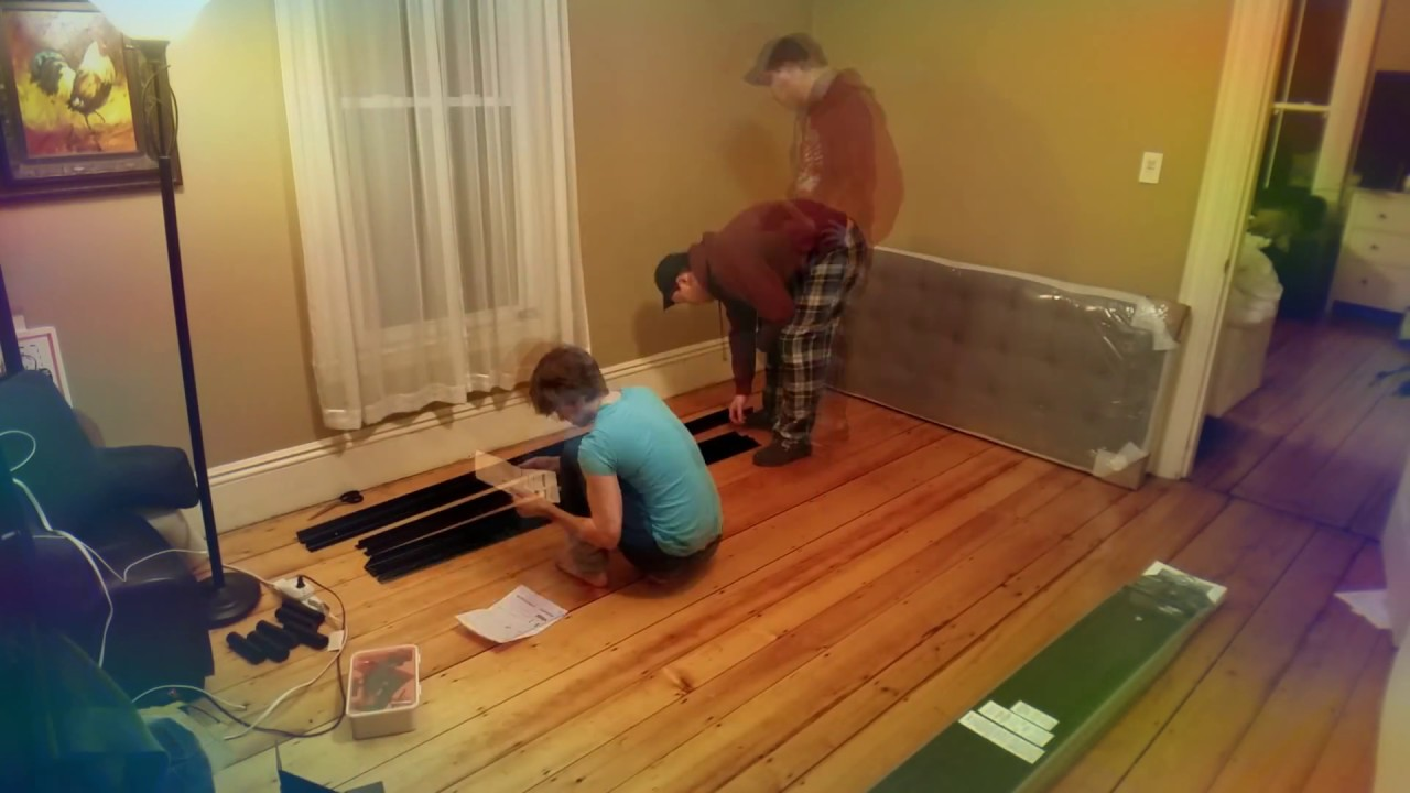Time lapse Wayfair bed frame assembly