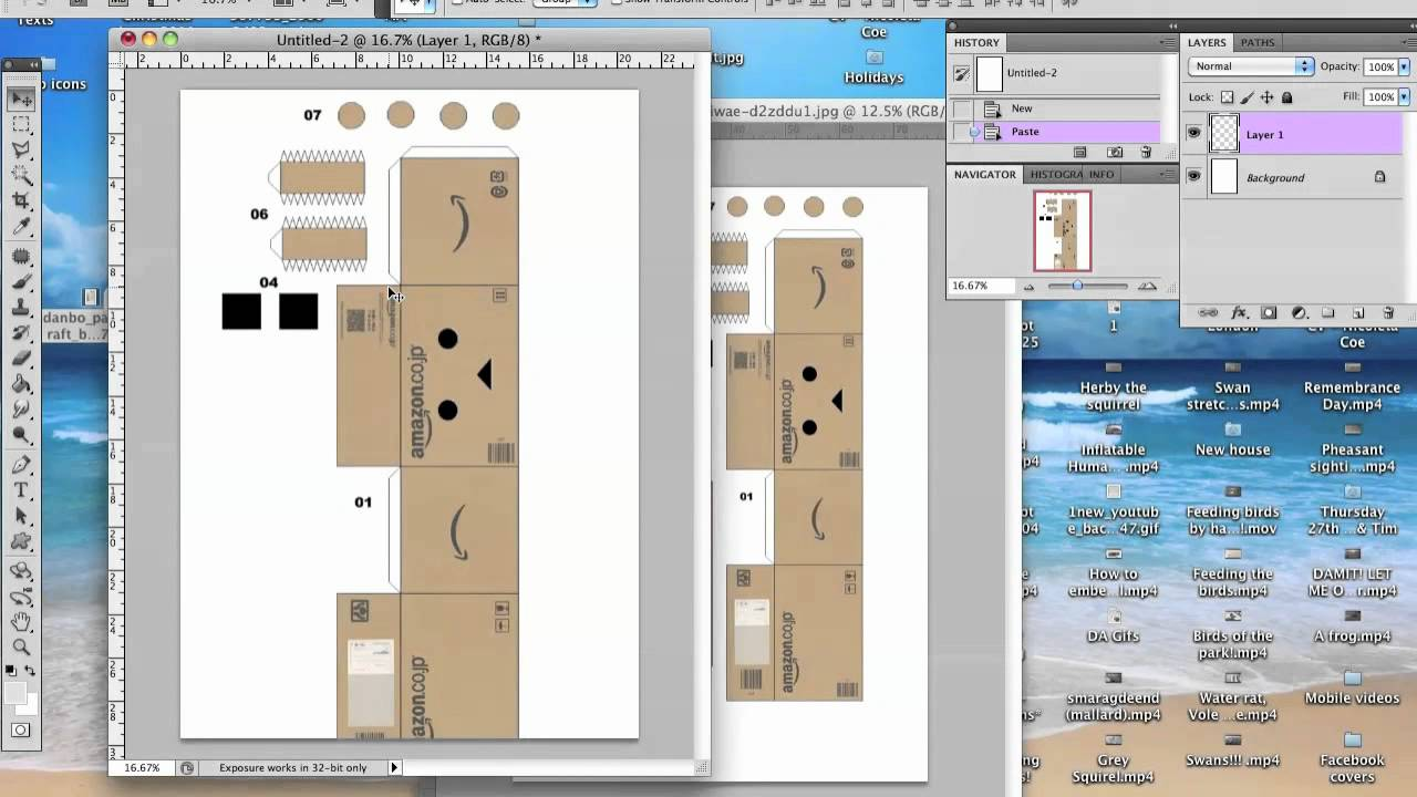 How to enlarge your Danbo template (Read description) - YouTube