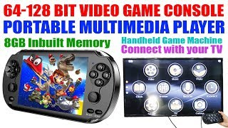 Portable X9 128 bit Handheld Video Game Console I Portable Multimedia Player I 8GB I UK