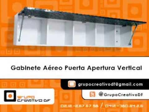 Gabinete aéreo con puerta vertical - YouTube
