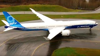 Watch Boeing cancel the 777x's first flight due to extreme winds