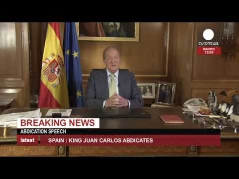 Spain King Juan Carlos abdication speech (recorded live feed)