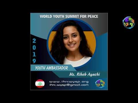 Ms. Riheb Ayachi - WYSP 2019 Youth Ambassador