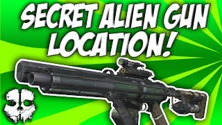 COD Ghosts - Unearthed Secret Alien Gun! The VENOM-X! Easter Egg Weapon Location