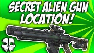COD Ghosts - Unearthed Secret Alien Gun! The VENOM-X! Easter Egg Weapon Location