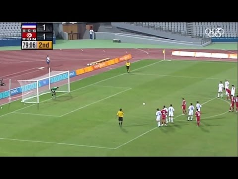 The longest penalty kick ever in a soccer game six attempts: Tunisia  Serbia 3  2   DISCOVER