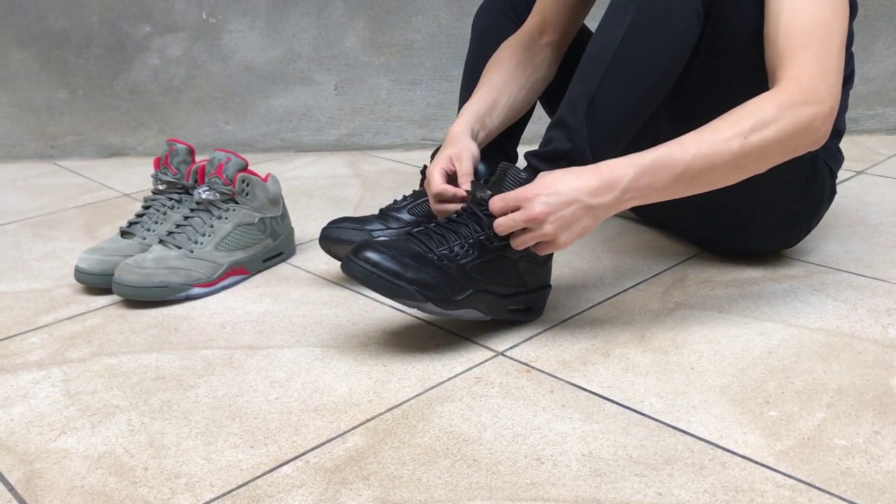 sports shoes 37619 6c742 FIRST LOOK  AIR JORDAN 5 PREMIUM TRIPLE BLACK