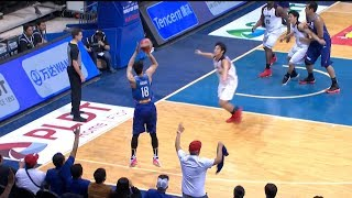 Troy with the go ahead 3! | FIBA World Cup 2019 Asian Qualifiers thumbnail