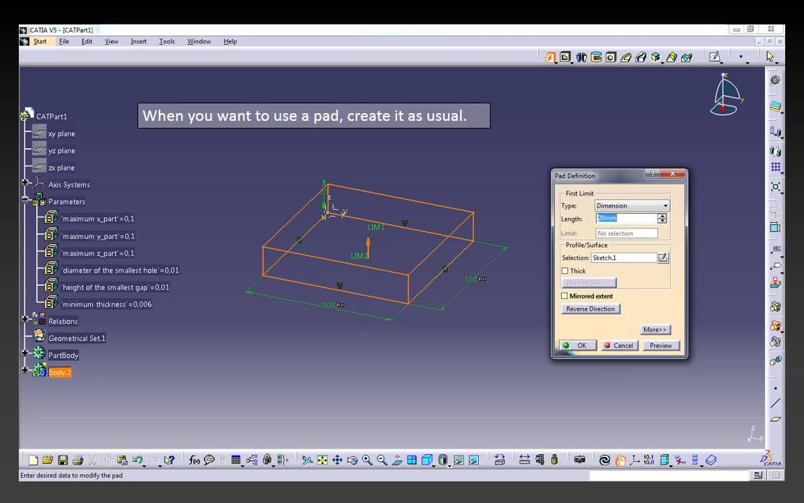 Catia v5/v6 tutorial |sheet metal design and manufacturing in.