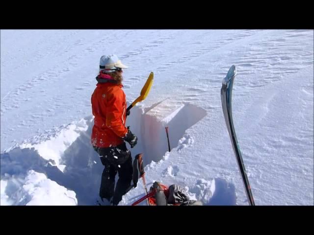 avalanche snow pit