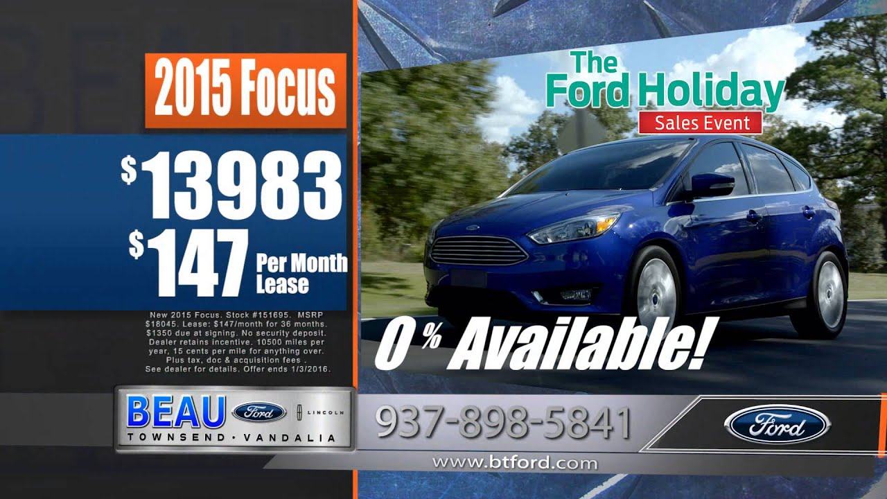 Beau Townsend Ford >> December Specials 2015 Beau Townsend Ford