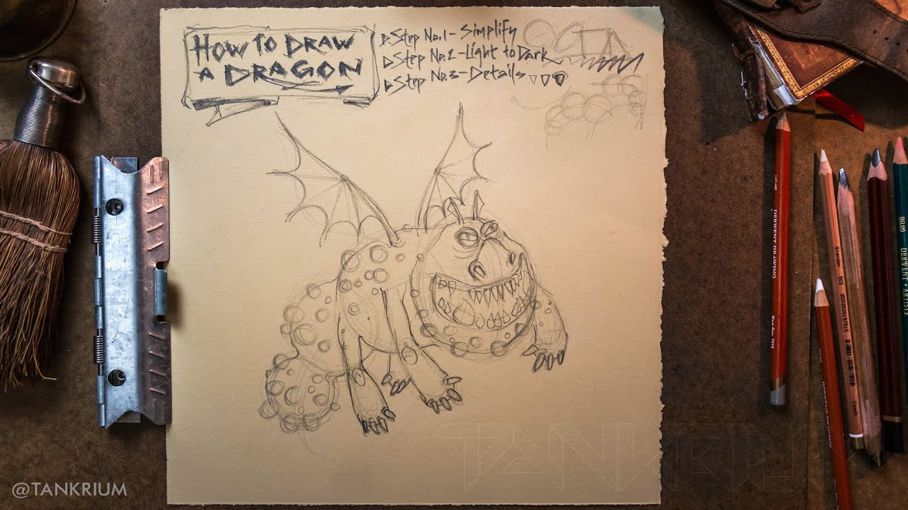 How To Draw A Dragon, Meatlug (how To Train Your Dragon) Step By Step  Tutorial For Beginners