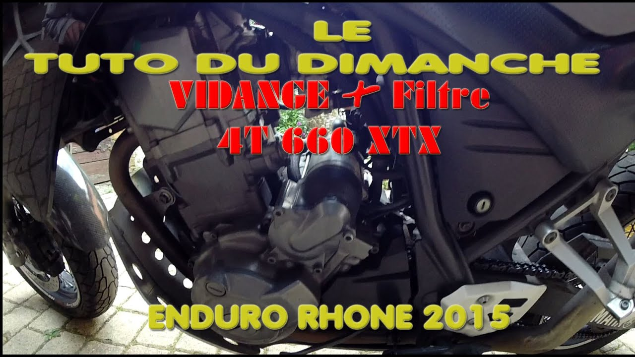 enduro rhone tutoriel comment faire une vidange filtre a air 4t 660 xtx youtube. Black Bedroom Furniture Sets. Home Design Ideas