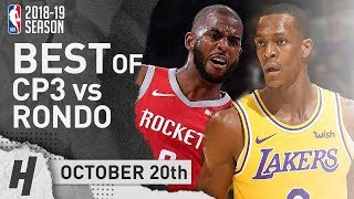 BEST of Chris Paul vs Rajon Rondo EPIC PG Duel Highlights 2018.10.20 - CP3 28 Pts
