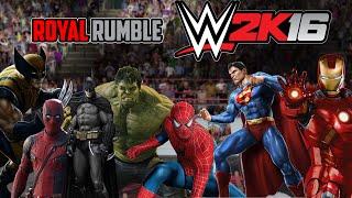 ROYAL RUMBLE DE SUPERHEROES ! EL COMBATE DEFINITIVO ! - WWE2K16 - ElChurches