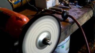 Dressing a buffing wheel