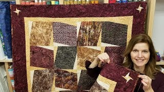 """""""Spice Cake"""" Quilt with a Spicy Cornerstone :)"""