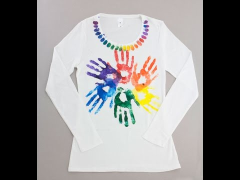 Project: Kids Hand Printed T-Shirt Design – Derivan Fabric Art