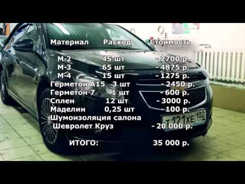 АВТОplus шумоизоляция салона Chevrolet Cruze