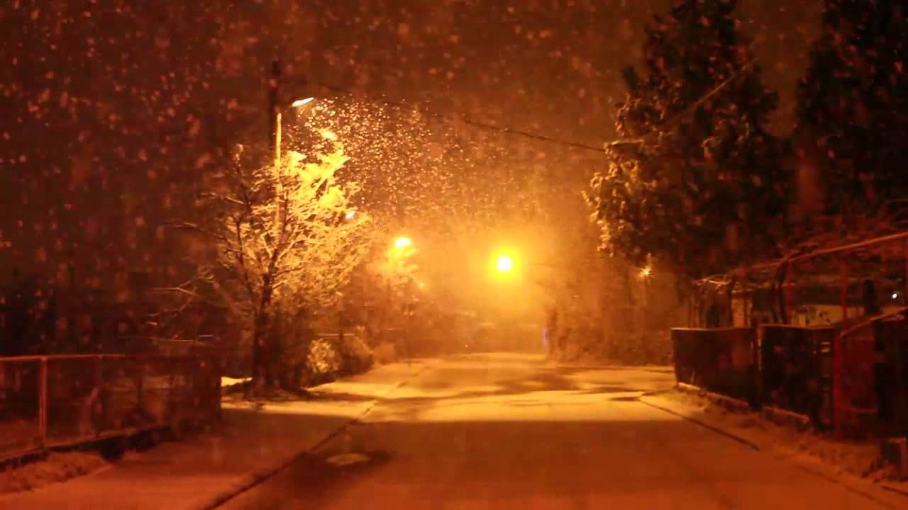 Orange Fall Wallpaper Quiet Night Snowfall Youtube