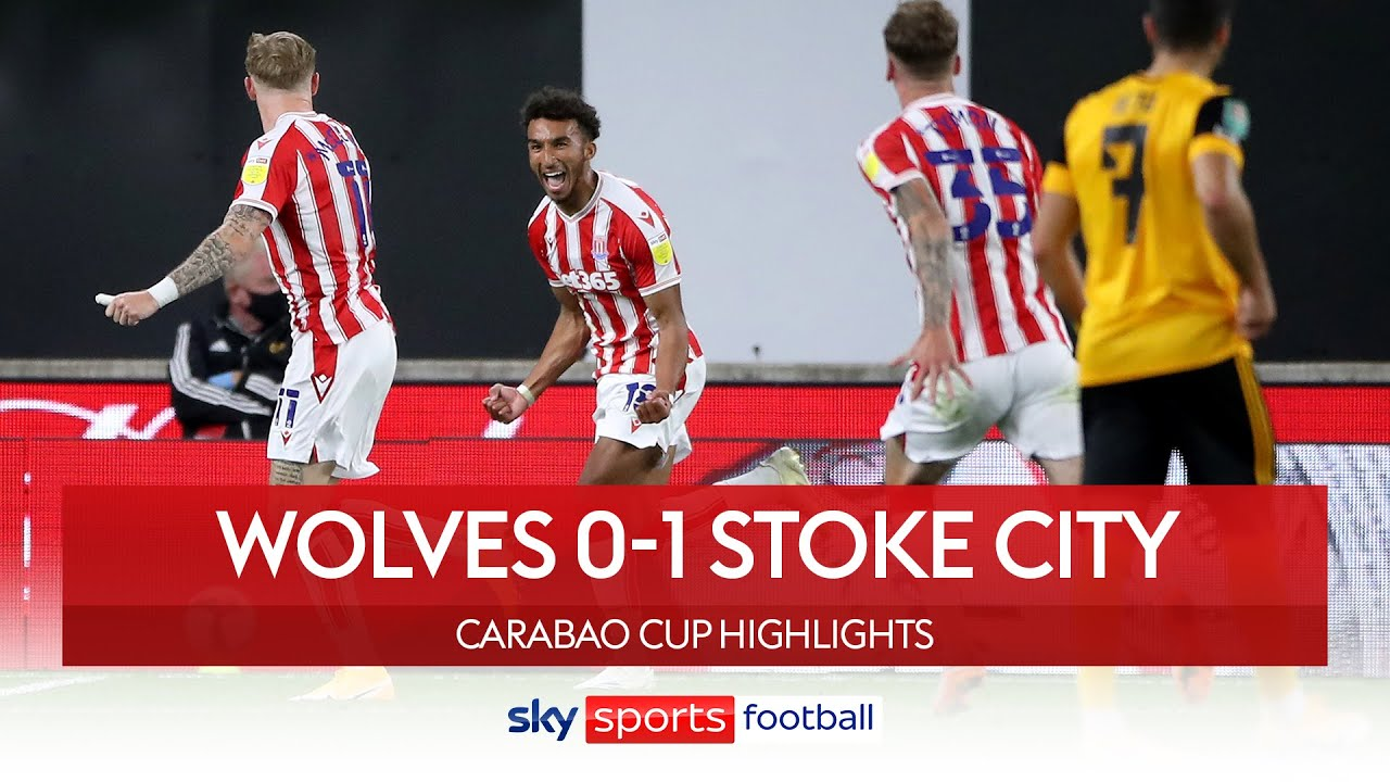 Stoke strike late to upset Wolves! | Wolves 0-1 Stoke City | Carabao Cup Highlights