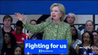 Clinton Shrugs Off Fainting Supporter at Rally