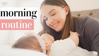 MOMMY MORNING ROUTINE WITH A NEWBORN | REAL 3 MONTH OLD BABY ROUTINE