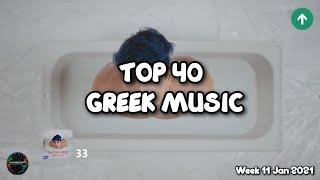 TOP 40 Greek Soฑgs •Greek Charts•| 11 Jan 2021