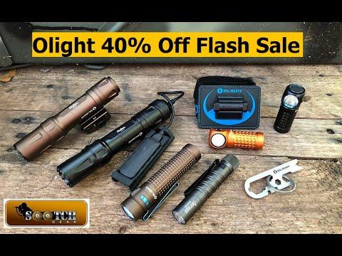 Olight Flash Sale 40% off Odin, Mini Perun and S2R Baton II June 21 22