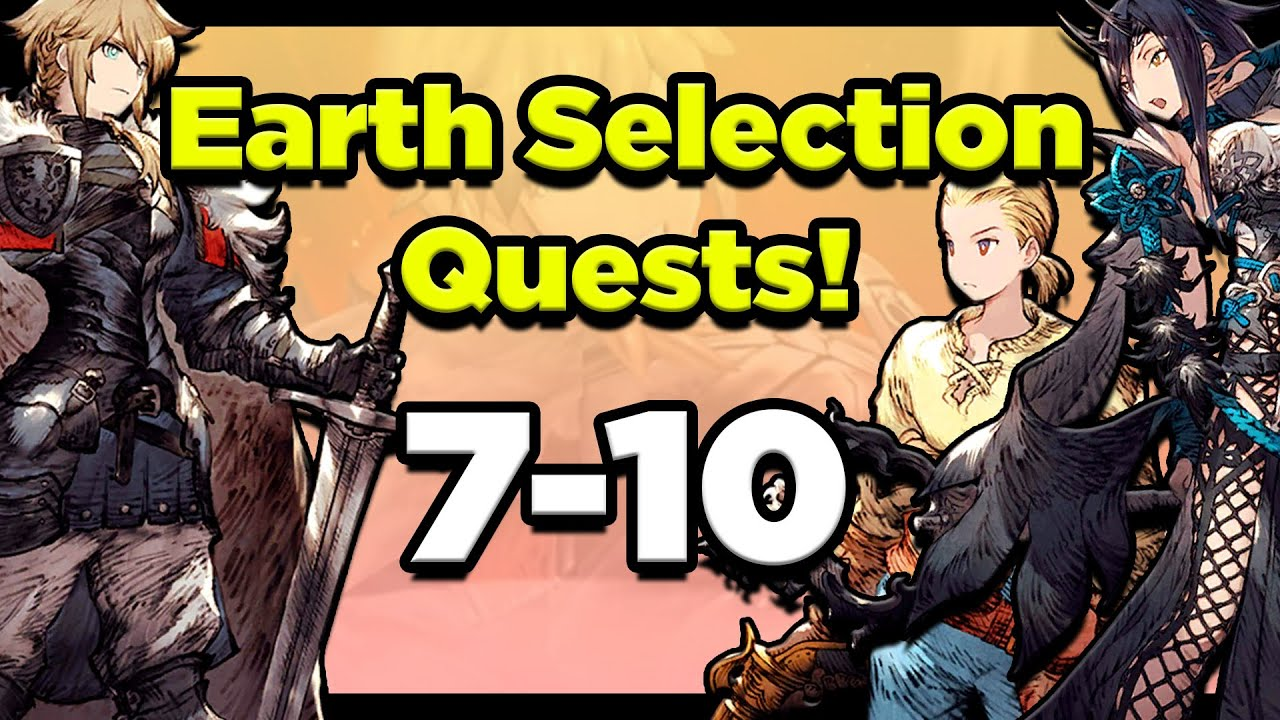 Earth Selection Quests CONQUERED! Muraga Aqcquired! Fights 7-10 (FFBE War of the Visions