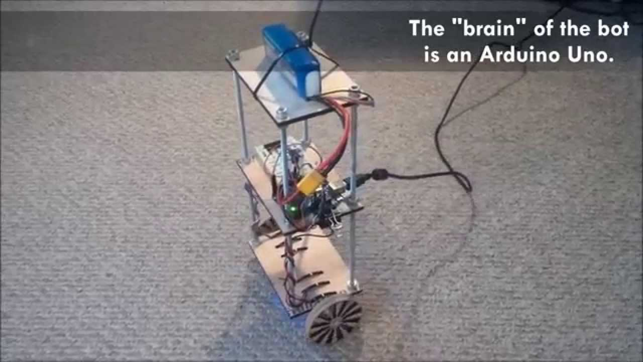 Testing my arduino self balancing robot using a pid