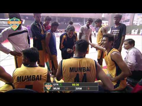 2016 UBAU AIU Inter-Zonal Basketball Tournament Semi Final   University of Mumbai VS SRM University