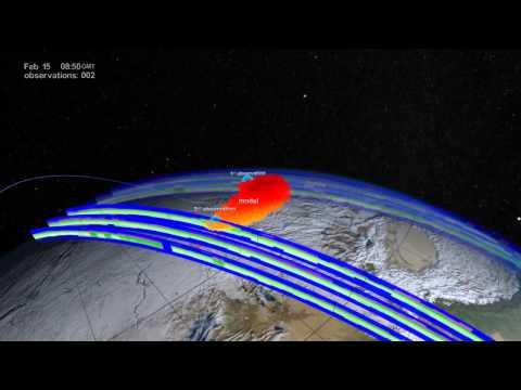 Satellite Tracks Aftermath of the Chelyabinsk Meteor   NASA Space Science HD Video